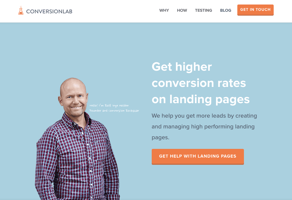 conversion lab home page design