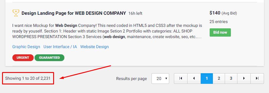 freelance web design gigs