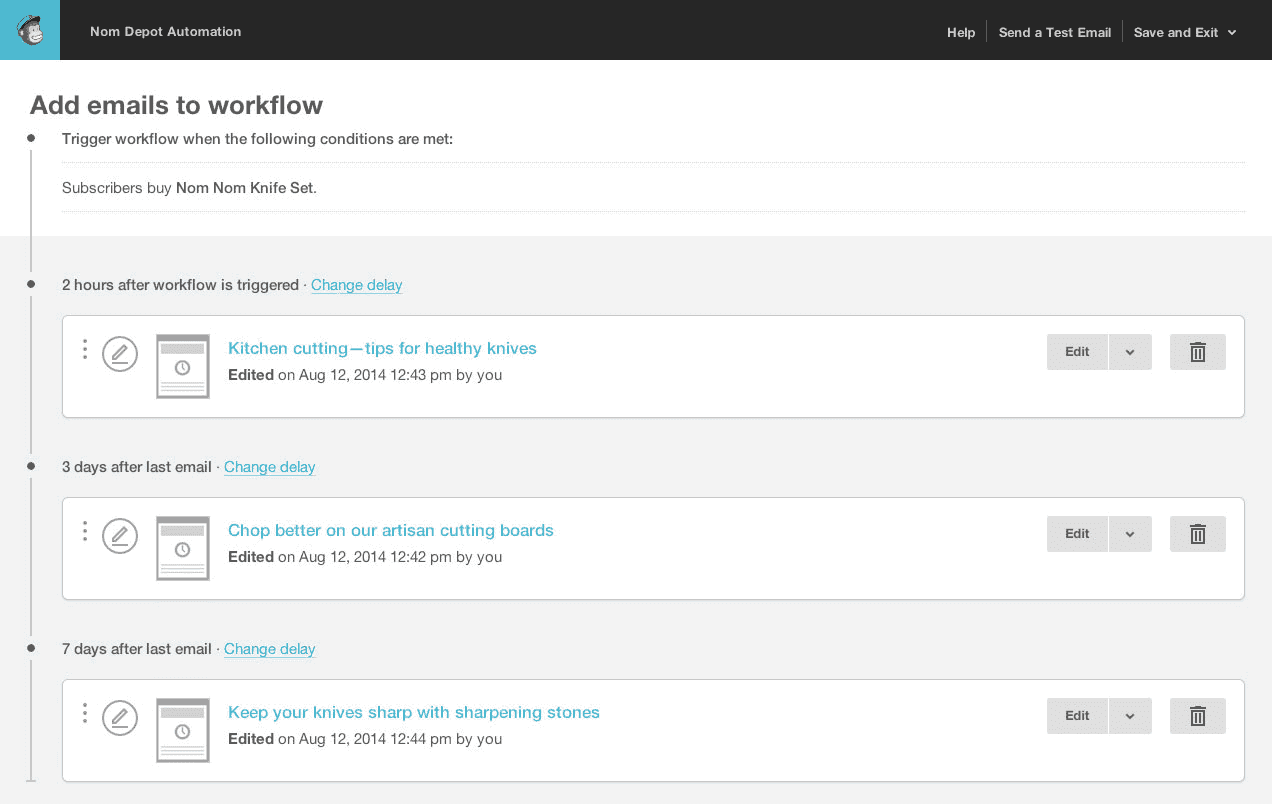 mailchimp email marketing automation