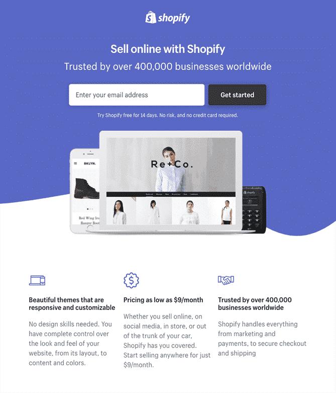 simple landing page design 2018