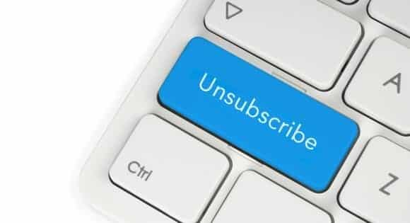 keep email unsubscribe ratio low
