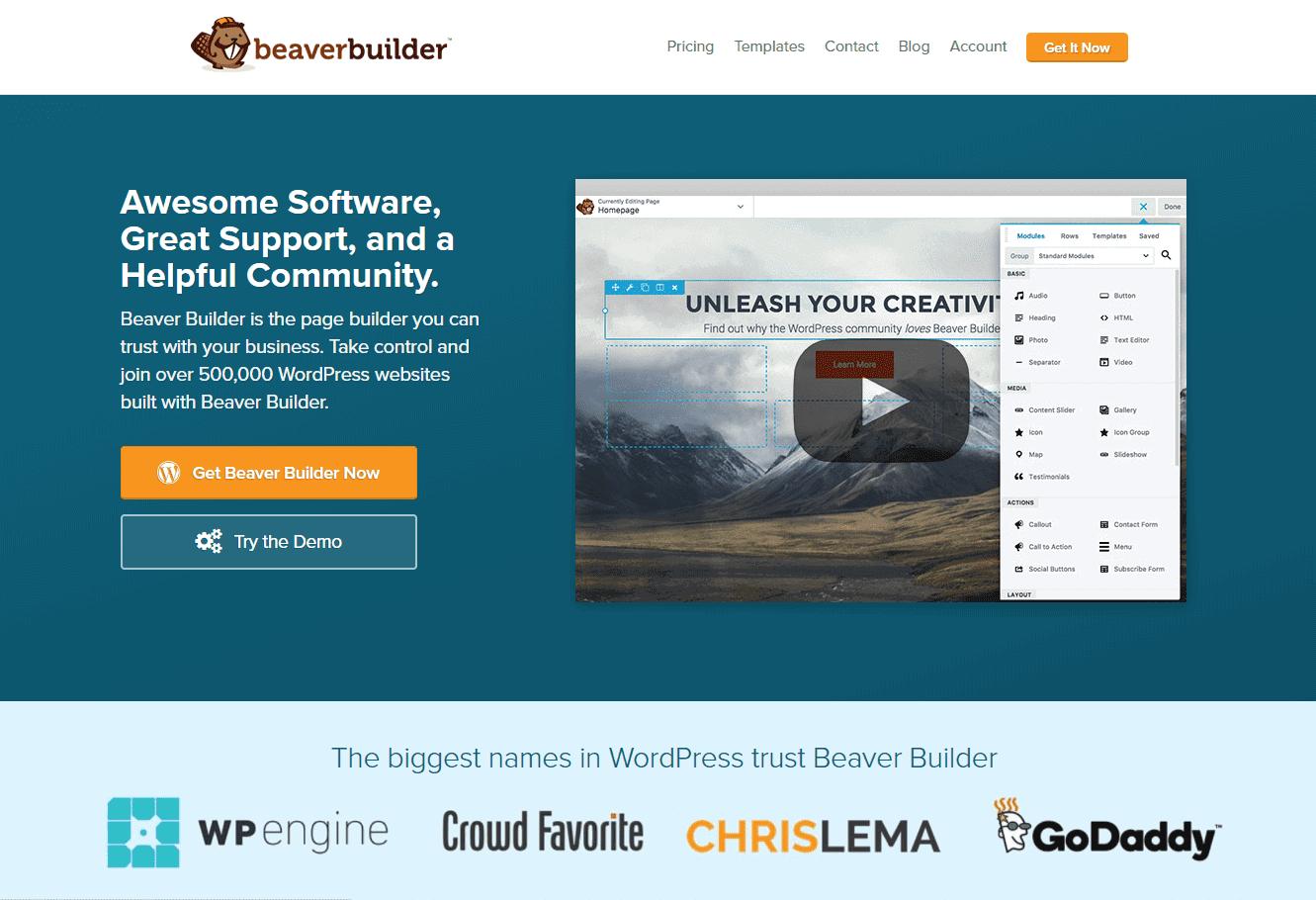 beaver builder comparison
