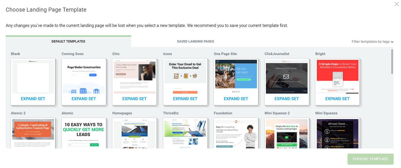 choose real estate landing pages demo