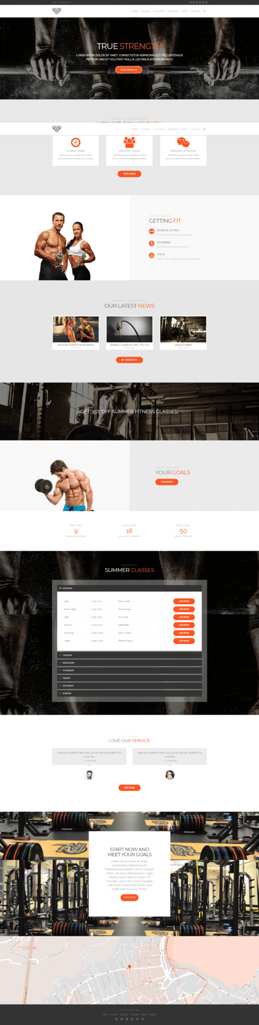 best wordpress theme for gym