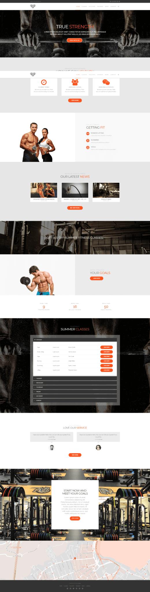 best wordpress theme for gym
