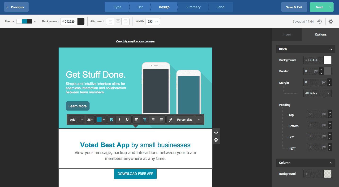 active campaign email template builder