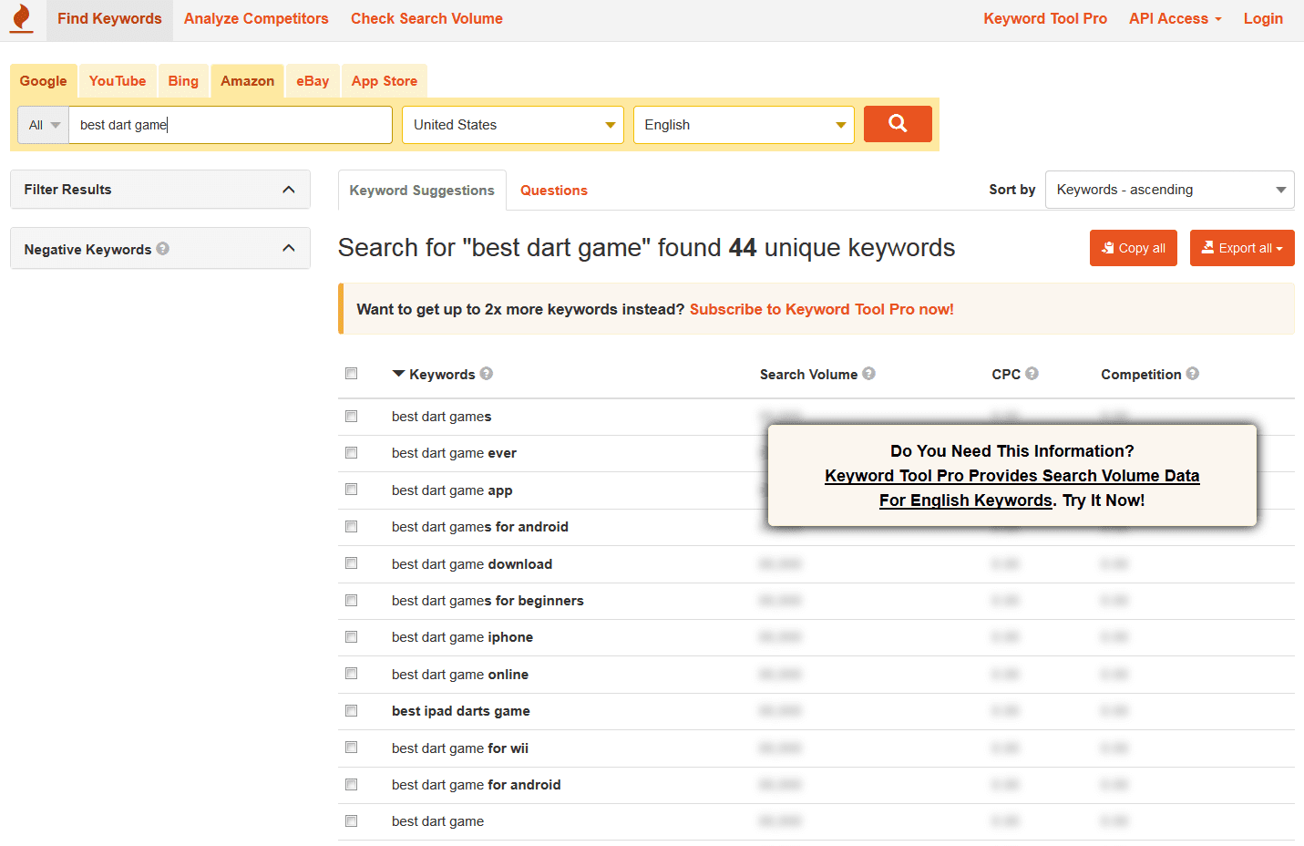 find long tail keywords using keywordtool.io