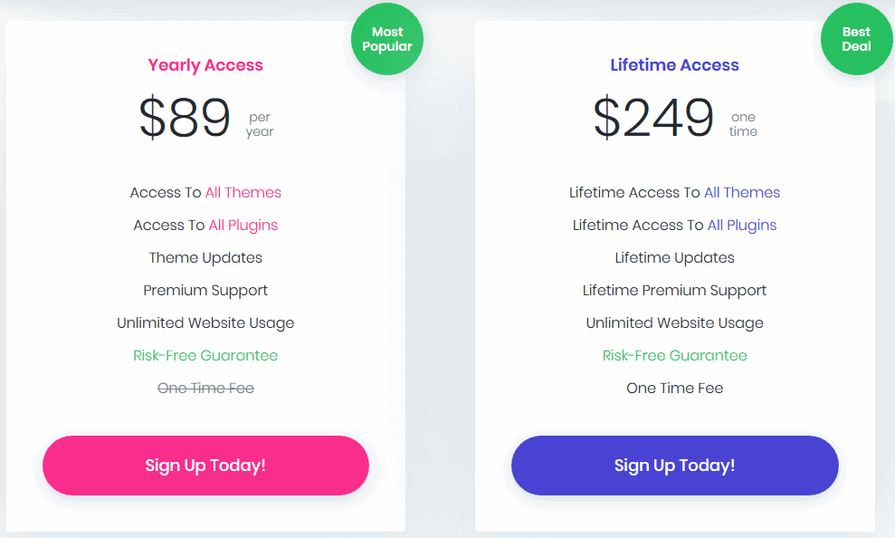new elegant themes pricing