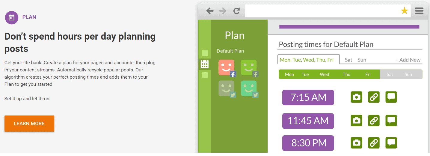 PostPlanner saves time social media planning