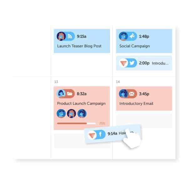 CoSchedule Drag And Drop Social Media Calendar App