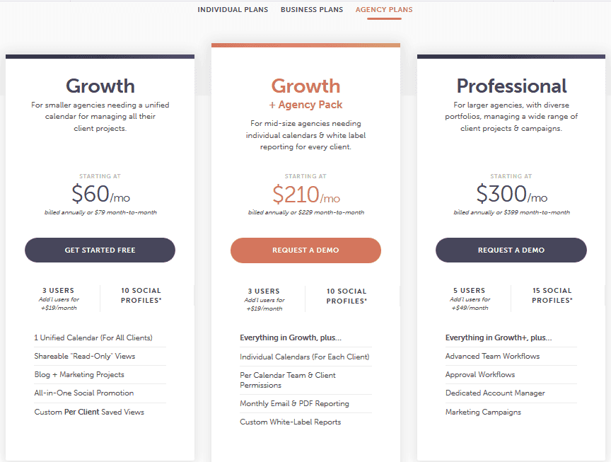 CoSchedule Review Pricing Agency Plans