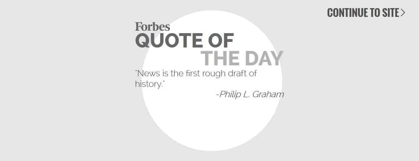 Forbes Splash Page