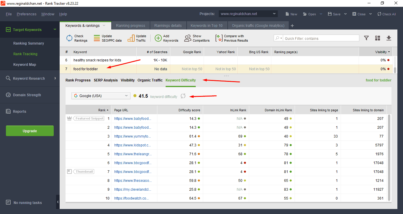 How To Find Keyword Diffuclty Using Rank Tracker
