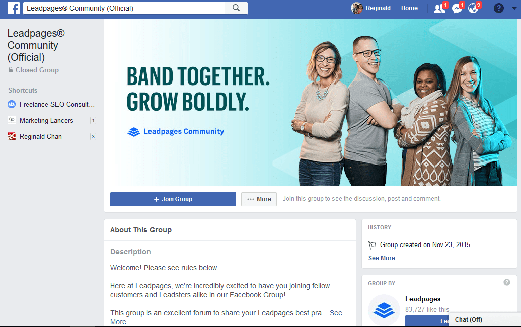 LeadPages Facebook Support Group