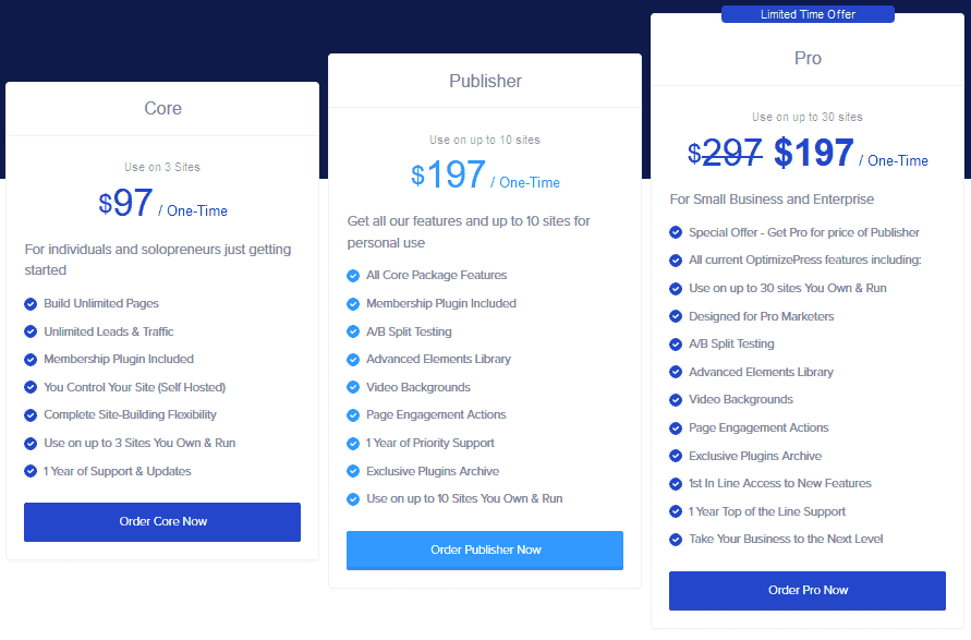 optimizepress pricing