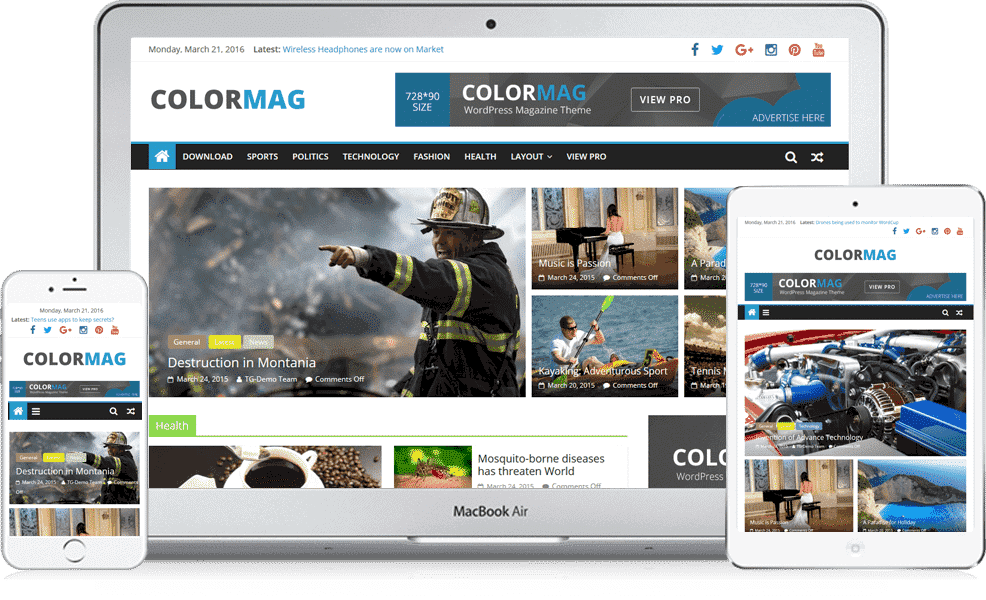 ColorMag Free Magazine WordPress Theme