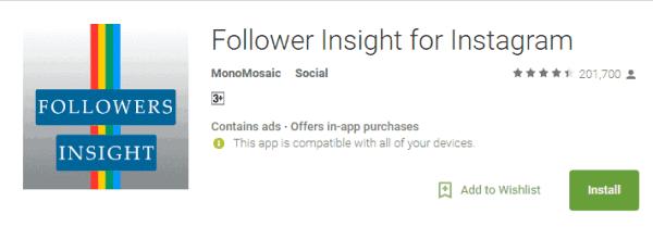 Instagram Follower Insight App