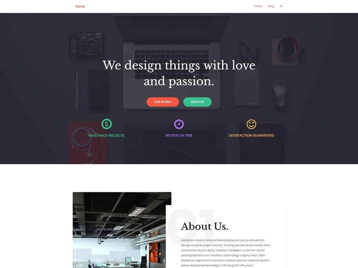 Neve Free Theme WordPress