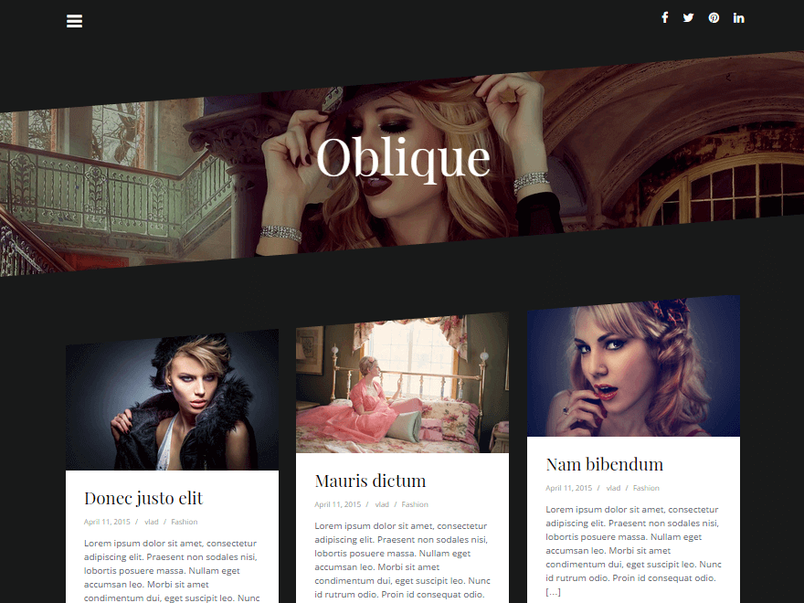 Oblique Free Masonry WordPress Theme