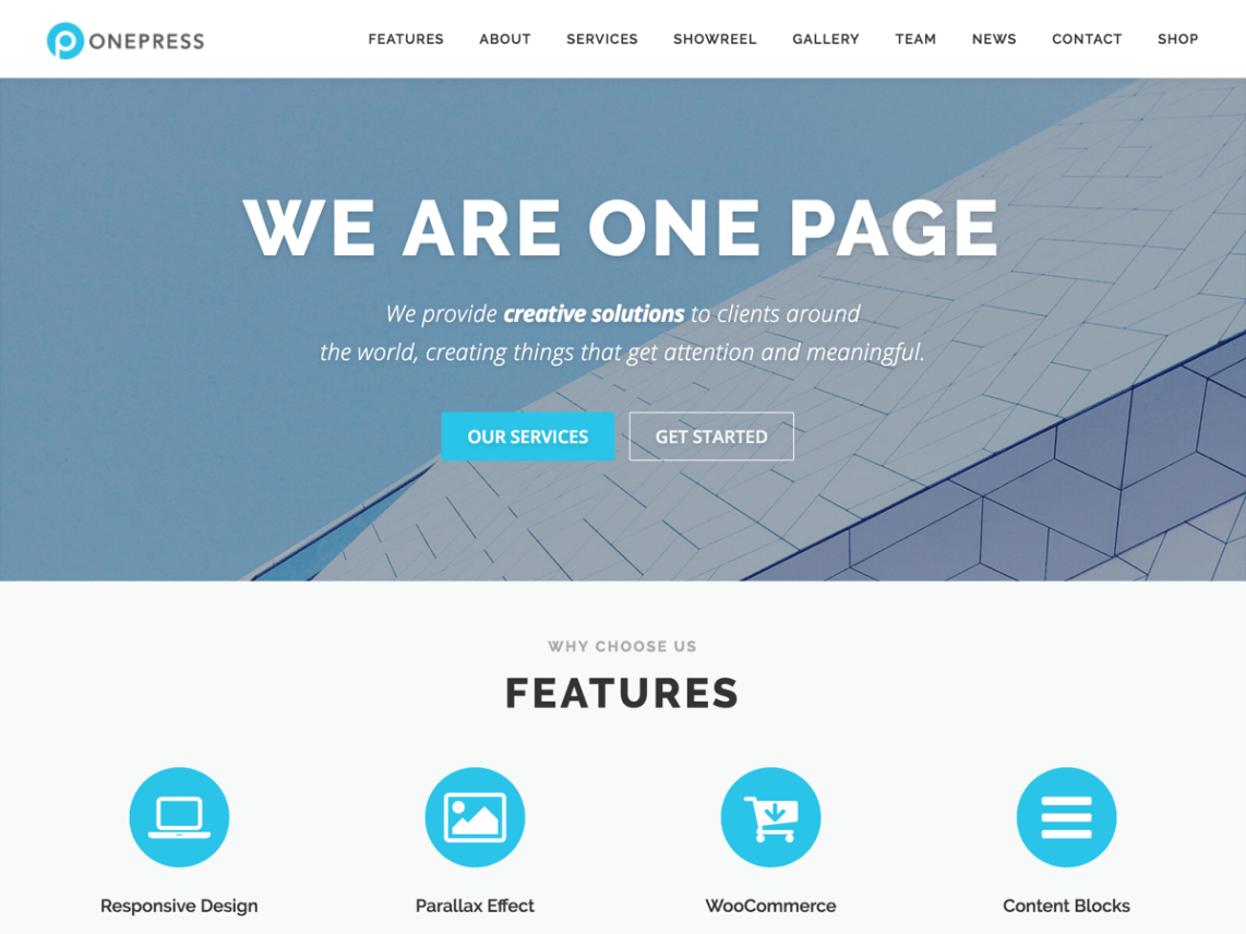 OnePress WordPress Theme Download