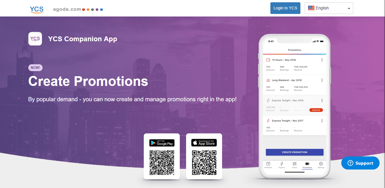Agoda Extranet Landing Page