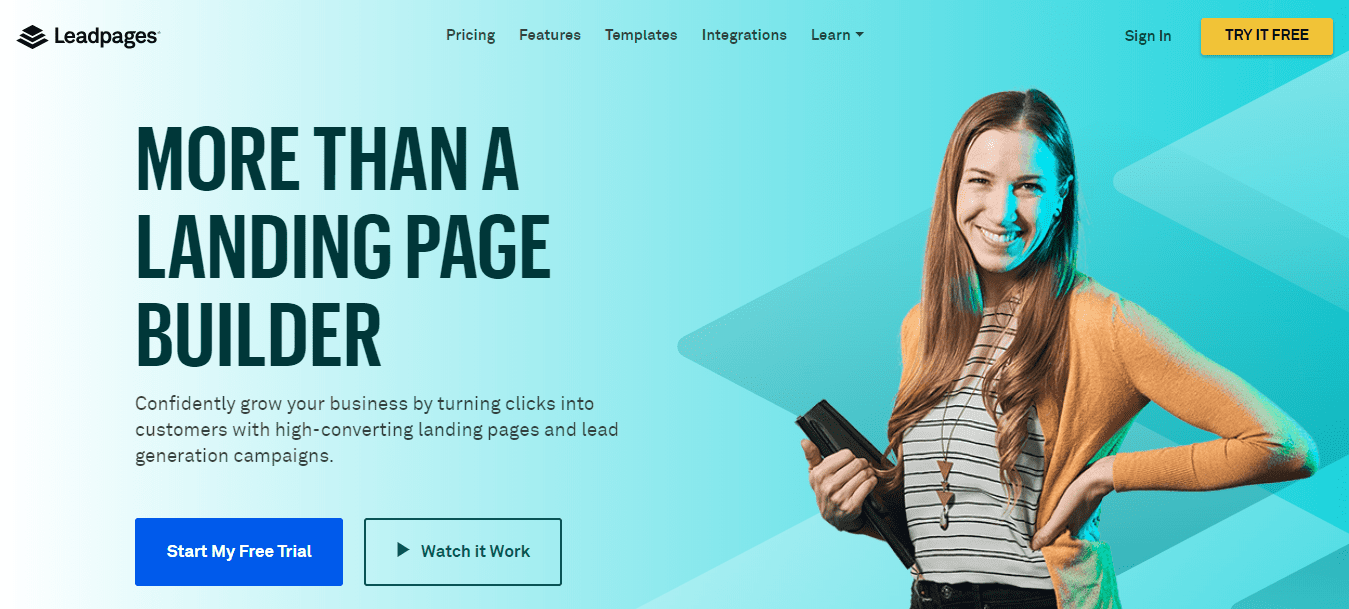 leadpages extranet landing page