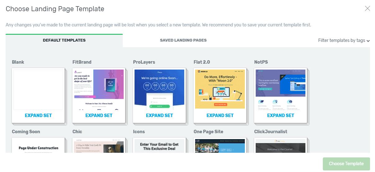 Thrive Architect Custom Homepage Templates