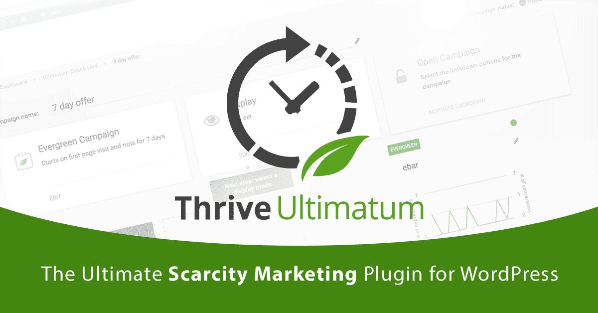 Thrive Ultimatum Plugin