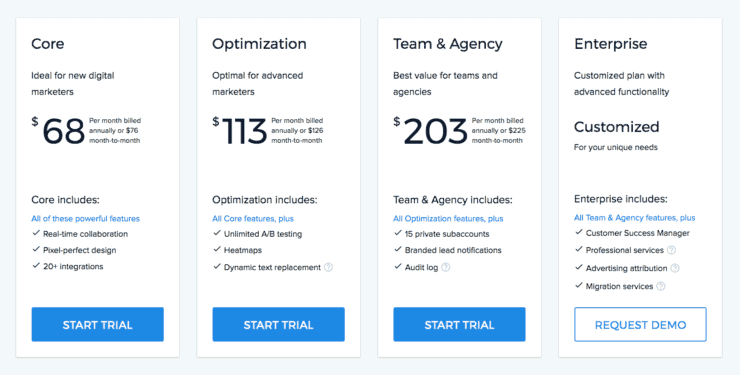 Instapage Best Landing Page Builder Pricing 2019
