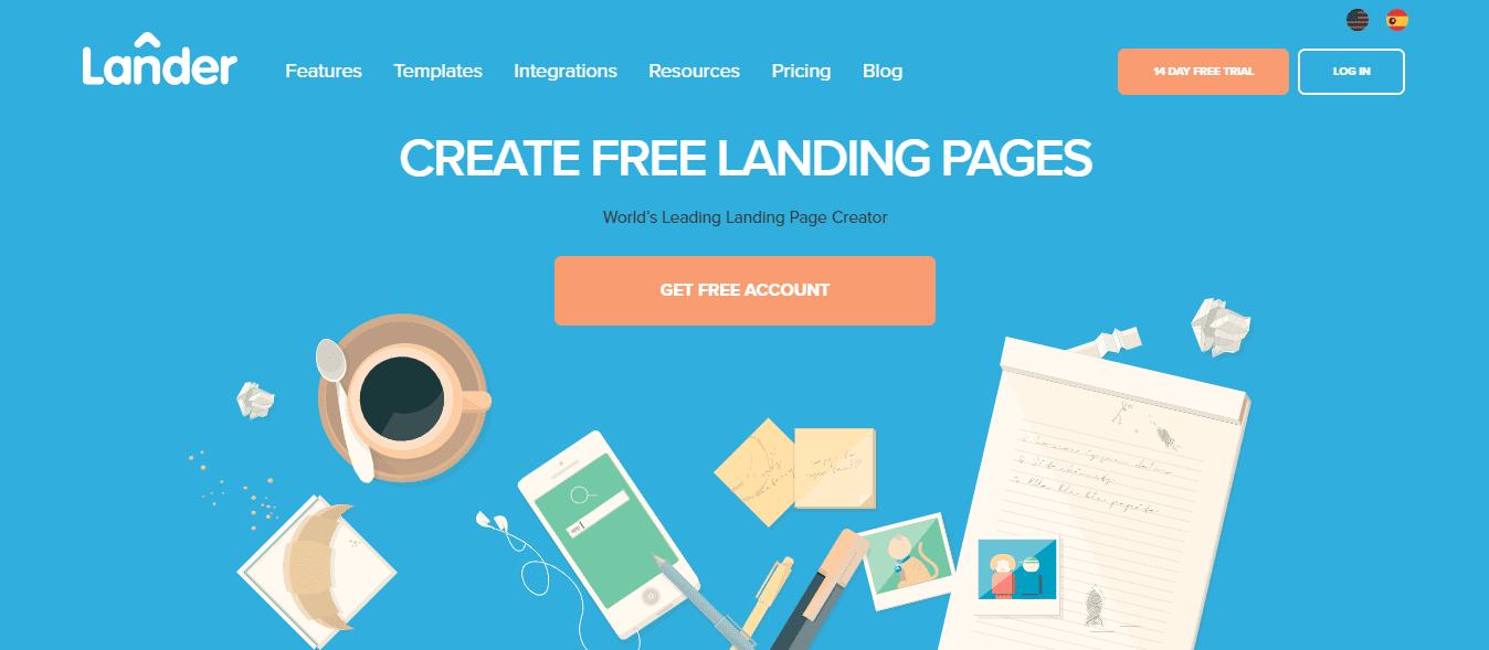 Lander Best Landing Page Builder 2019