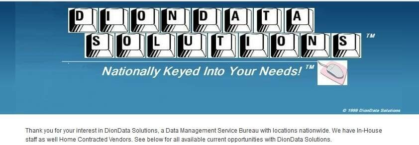 Non Phone Jobs From Home With Dion Data Solutions