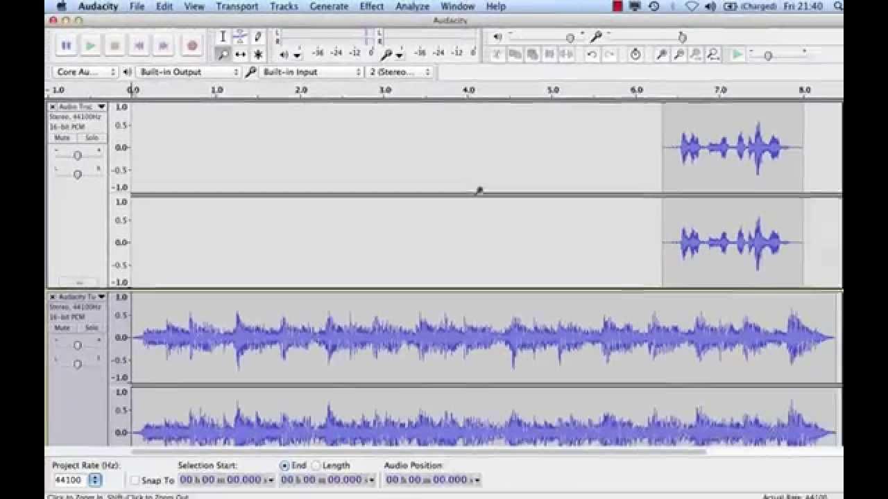 Record Podcast Using Audacity
