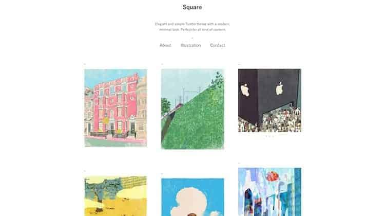 Best Tumblr Theme Square