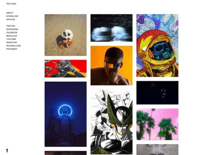 Ten Toes Tumblr Theme