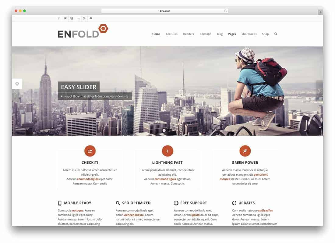 Enfold Drag and Drop Visual Composer
