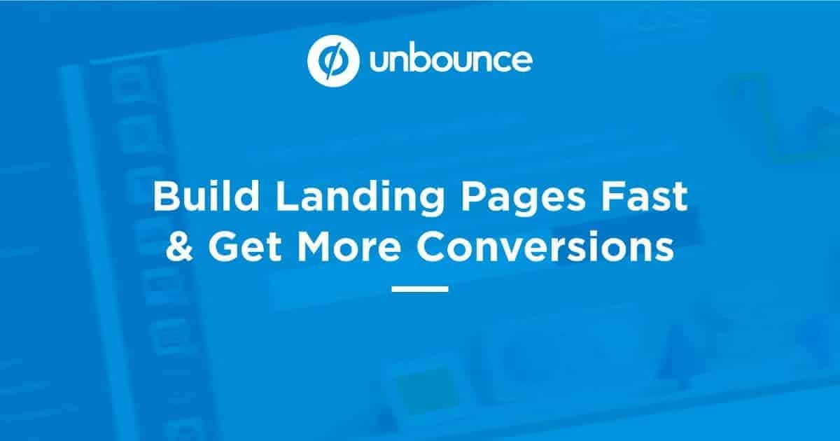 Unbounce Best Sales Funnel Software Programs 2019