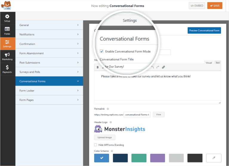 Conversational Forms Setup On WordPress