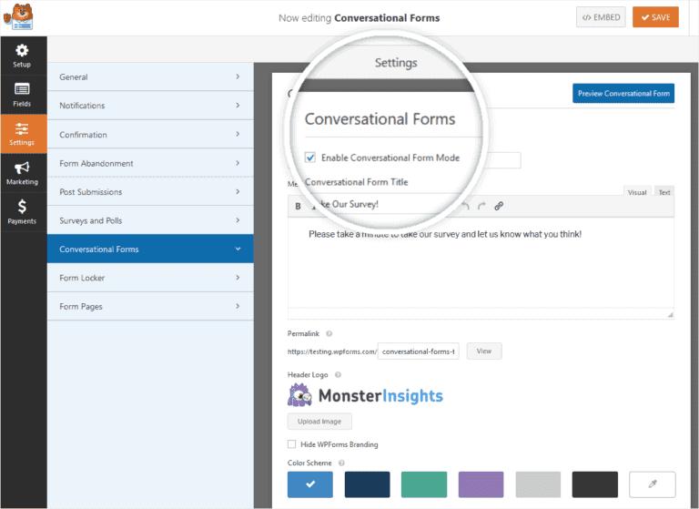 Conversational Forms Setup On WordPress