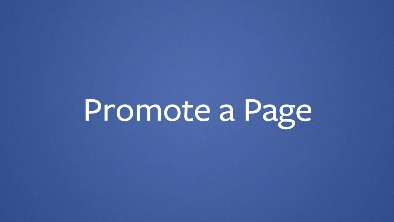 How To Promote A Facebook Page