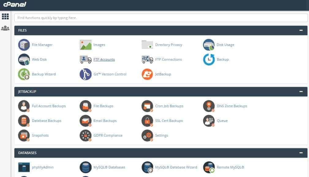 cPanel-Backend-Dashboard WPX Hosting Review: Is This The WordPress Hosting For 2019? Blog Online Marketing WordPress