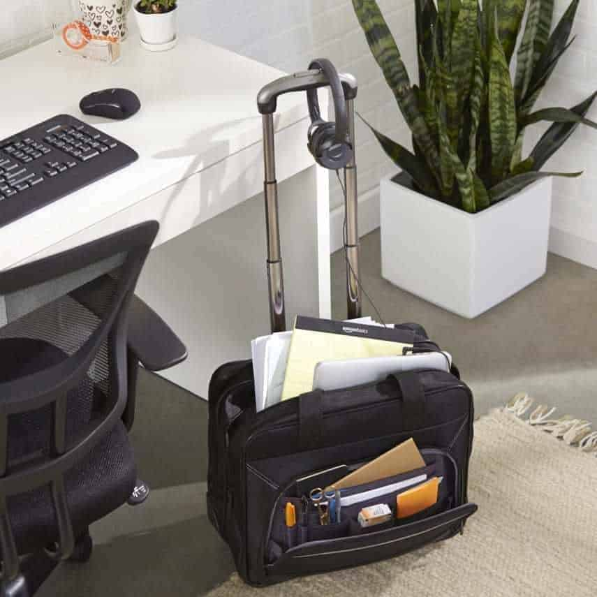 AmazonBasics-Rolling-Bag-Review Top 10 Best Rolling Briefcases for Business Travel Blog Lifestyle