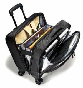 Compartments of Samsonite Xenon 3.0 Rolling Briefcase