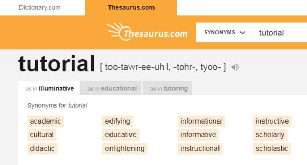 Choose A Blog Name using Thesaurus