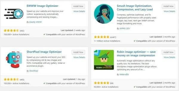 Install Image Optimizer WordPress