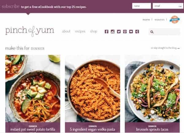 Pinch of Yum Choose A Blog Name