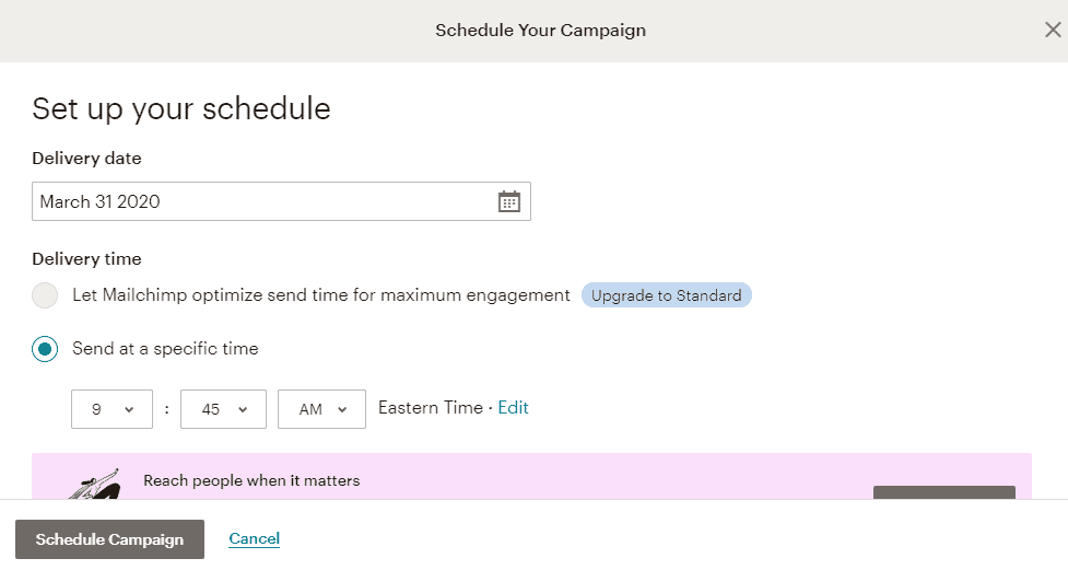How To Schedule Email Delivery Services Using MailChimp