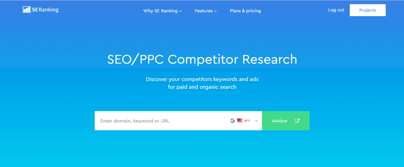 SE Ranking SEO PPC Competitor Research
