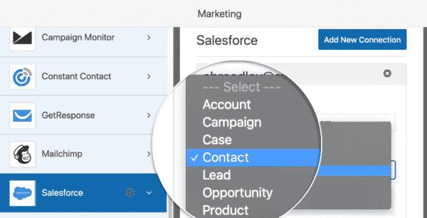 Create Salesforce Object Wpforms