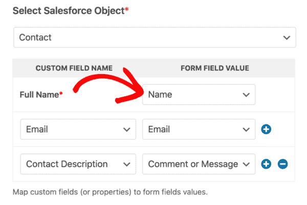 Salesforce Wpforms Addon Field Mapping